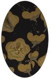 rug #565533 | oval black gradient rug