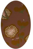 rug #565561 | oval mid-brown gradient rug