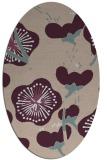 rug #565573 | oval pink gradient rug