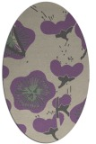 rug #565597 | oval purple gradient rug