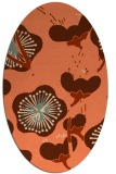 rug #565617 | oval red-orange gradient rug