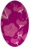 rug #565625 | oval pink gradient rug