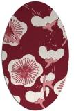 rug #565629 | oval pink gradient rug
