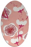 rug #565637 | oval pink gradient rug