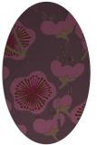 rug #565641 | oval purple gradient rug