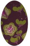 rug #565645 | oval purple gradient rug
