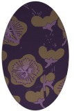 rug #565649 | oval purple gradient rug