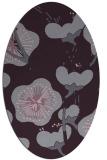 rug #565653 | oval purple gradient rug