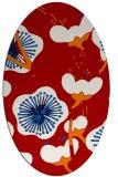 rug #565657   oval red gradient rug