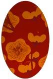 rug #565661 | oval orange gradient rug