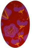 rug #565669 | oval red gradient rug