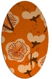 rug #565677 | oval red-orange gradient rug