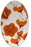 rug #565685 | oval red-orange gradient rug