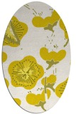 rug #565693 | oval white gradient rug