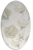 rug #565701 | oval white gradient rug