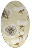 rug #565709 | oval yellow gradient rug