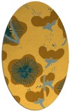 rug #565721 | oval yellow gradient rug