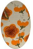 rug #565733 | oval orange gradient rug