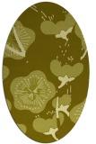 rug #565737 | oval light-green rug