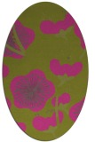 rug #565745 | oval pink popular rug