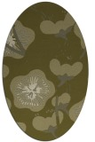 rug #565749 | oval light-green rug