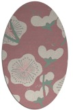 rug #565757 | oval pink gradient rug