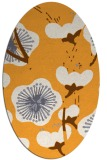 rug #565765 | oval light-orange gradient rug