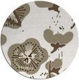 rug #566121 | round beige gradient rug