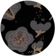 rug #566129 | round black gradient rug