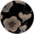 rug #566133 | round black natural rug