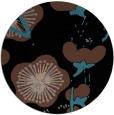 rug #566137 | round black gradient rug