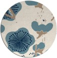 rug #566145 | round blue-green gradient rug