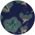 rug #566153 | round blue-green gradient rug