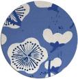rug #566161 | round blue gradient rug