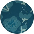 rug #566169 | round blue-green gradient rug