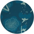 rug #566173 | round blue-green gradient rug