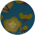 rug #566181 | round blue-green gradient rug