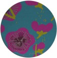 rug #566185 | round blue-green gradient rug