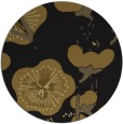 rug #566237 | round mid-brown gradient rug