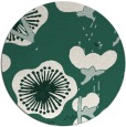 rug #566253 | round blue-green gradient rug