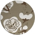 rug #566261 | round mid-brown gradient rug
