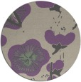 rug #566301 | round purple gradient rug