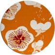 rug #566313 | round orange gradient rug