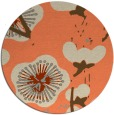 rug #566317 | round orange gradient rug