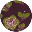 rug #566349 | round purple gradient rug