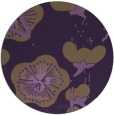 rug #566353 | round purple gradient rug