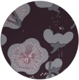 rug #566357 | round purple gradient rug