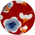 rug #566361 | round red gradient rug