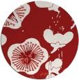 rug #566369 | round red gradient rug