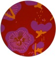 rug #566373 | round red gradient rug